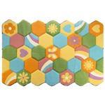 فرش تزیینی زرباف مدل کندو سایز 100 × 150 سانتی متر
