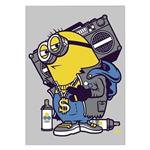 تابلوی ونسونی طرح Hip Hop Minion سایز 30 × 40