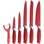 ست چاقوی آشپزخانه رویالتی لاین مدل RL RED5W Red