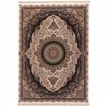 فرش ماشینی دنیای فرش طرح پرهام زمینه کرم
