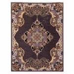 فرش ماشینی دنیای فرش طرح الی زمینه گردویی
