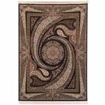فرش ماشینی دنیای فرش طرح کهکشان زمینه سورمه ای