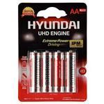 Hyundai Super Ultra Heavy Duty AA Battery Pack Of 4