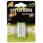 Hyundai NI-MH Rechargeable AAA Battery Pack Of 2