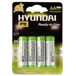 Hyundai NI-MH Rechargeable AA Battery Pack Of 4