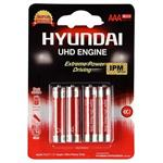 Hyundai Super Ultra Heavy Duty AAA Battery Pack Of 4
