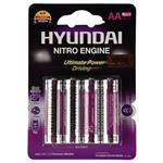 Hyundai Premium Alkaline AA Battery Pack Of 4