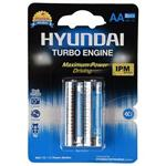 Hyundai Power Alkaline AA Battery Pack Of 2