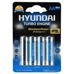Hyundai Power Alkaline AA Battery Pack Of 4