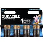 Duracell Ultra Power Duralock With Power Check AA Battery Pack Of 8