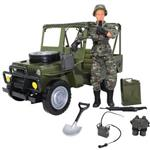 M and C Military Vehicle With Military Figure 90014B Action Figure