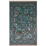 فرش ماشینی عرش طرح بهراد زمینه آبی