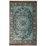 فرش ماشینی عرش طرح برین زمینه آبی