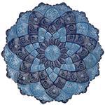 بشقاب مسي ميناکاري شده اثر سلطاني دو رنگ طرح 3 قطر 30 سانتي متر