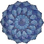 بشقاب مسي ميناکاري شده اثر سلطاني دو رنگ طرح 4 قطر 30 سانتي متر