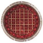فرش ماشینی عرش طرح بیژن دایره زمینه قرمز