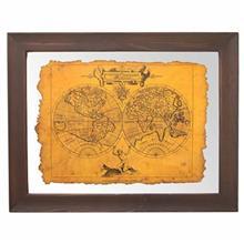 تابلوی نگارگری جمع کهنهکار کد 153013 طرح نقشه جهان