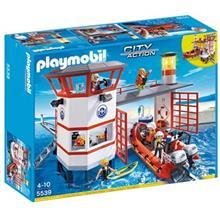 ساختني پلي موبيل مدل Coast Guard Station With Lighthouse 5539