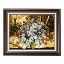 تابلو فرش گالري مثالين طرح گل مينا کد 25077