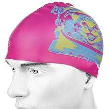 کلاه شناي اسپيدو مدل Junior Slogan Print