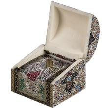 جعبه استخواني اثر بهشتي طرح تذهيب 3 سايز کوچک