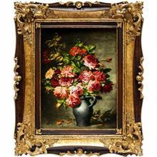 تابلو فرش گالری سی پرشیا طرح گل رز با پارچ کد 901137