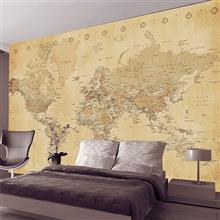 کاغذ دیواری 1wall سری Giant Mural مدل Vintage Map