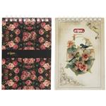 Clips Flower Design Notebook Pack of 2