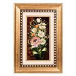 تابلو فرش گالری سی پرشیا طرح گل با گلدان کد 901167