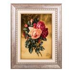 تابلو فرش گالری سی پرشیا طرح دسته گل رز کد 901168