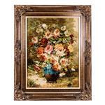 تابلو فرش گالری سی پرشیا طرح گل با گلدان سفالی کد 901182