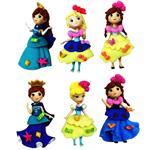 Vatetoys Princess Figure Set Pack Of 6