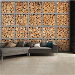 کاغذ دیواری 1وال مدل Logs-002