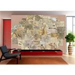 کاغذ دیواری 1وال مدل نقشه باستانی MAPS-001