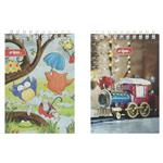 Clips Owl and Train Design Notebook Pack of 2