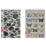 Clips Fish and Butterfly Design Notebook Pack of 2