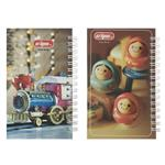 Clips Wooden Doll and Train Design Notebook Pack of 2