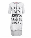 پیراهن زنانه طوسی بامبو