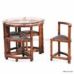 میز و صندلی ناهار خوری چوبی کم جا سری112S