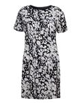 پیراهن طرح پلنگی زنانه مشکی سفید FF