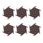 زیرلیوانی خانه طراحی آرا طرح شش ضلعی کد 195005 - مجموعه شش عددی