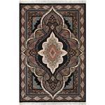 فرش ماشینی نگین اکسیر طرح کیمیا زمینه سورمه ای