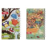 Clips Owl and Deer Design Notebook Pack of 2
