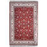فرش ماشینی مهتاب پارسیان طرح افشان زمینه قرمز