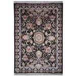 فرش ماشینی مهتاب پارسیان طرح ستاره زمینه مشکی