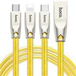 Hoco U9 USB To microUSB/Lightning/USB-C Cable 1.5m