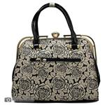 Vernika MM364 Leather Hand Bag Flower Decorated For Women