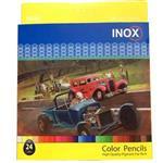 مداد رنگی 24 رنگ اینوکس