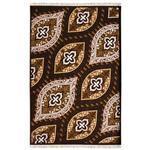 فرش ماشینی سرزمین فرش طرح عاطفه کد FSM38 زمینه قهوه ای