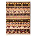 فرش ماشینی سرزمین فرش طرح شیوا کد FSM31 زمینه قهوه ای